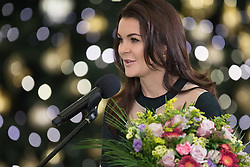 January 11, 2019 - Warsaw, Poland - Tennis player Agnieszka Radwanska poses during an award ceremony of the Order of Polonia Restituta from Polish President Andrzej Duda (not In Picture) in Warsaw, Poland, on 11 January 2019. (Credit Image: © Foto Olimpik/NurPhoto via ZUMA Press)
