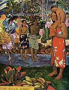 Eugène Henri Paul Gauguin(1848 – 8 May 1903) French Post-Impressionist artist. Ia Orana Maria (Hail Mary) (i greet you Mary). 1891 Oil on canvas