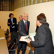 NLD/Den Haag/20070412 - Visit of Mr. Hans-Gert Pöttering, president of the European parliament to The Hague, meeting with the Presidents of the 4 leading political groups, Mr. Jacques Tichelaar..NLD/Den Haag/20070412 - President Europees Parlement Hans-Gert Pöttering bezoekt Den Haag, ontmoeting met de 4 politiieke leiders van de grootste partijen.  ** foto + verplichte naamsvermelding Brunopress/Edwin Janssen  **