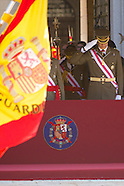 060314 Spanish Royals attend a Miliitary Parade after stepping down