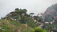 The view from a walking trail near Ravello, Italy.