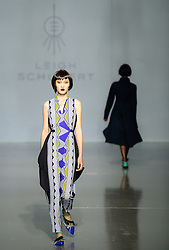 A model presents a creation by local designer Leigh Schubert on the third day of Mercedes-Benz Fashion Week Joburg 2016 at Nelson Mandela Square in Johannesburg, South Africa on March 12, 2016. The Mercedes-Benz Fashion Week Joburg 2016, the largest and leading one in Africa, closed here Saturday. Creations by nearly 20 South African fashion designers have been presented in 14 shows of the past three days. EXPA Pictures © 2016, PhotoCredit: EXPA/ Photoshot/ Zhai Jianlan<br /> <br /> *****ATTENTION - for AUT, SLO, CRO, SRB, BIH, MAZ, SUI only*****