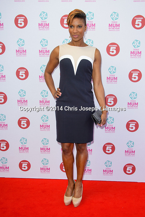 Denise Lewis attends the Tesco Mum of the Year Awards 2014. The Savoy Hotel, London, United Kingdom. Sunday, 23rd March 2014. Picture by Chris Joseph / i-Images