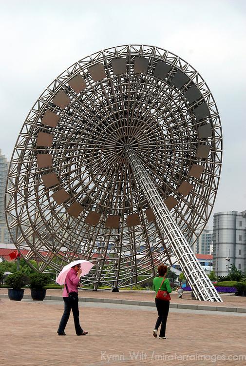 Asia, China; Shanghai. Parasols of Shanghai.