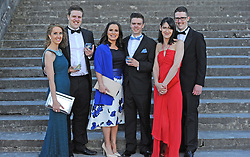 Pictured at the Mis-Summer Banquet at Westport Food Festival at Wesport House on friday last. Eva McNally, Darragh McDonnell, Katie Rodden, Cormac McDonnell, Laura and Daniel McDonnell.<br /> Pic Conor McKeown.