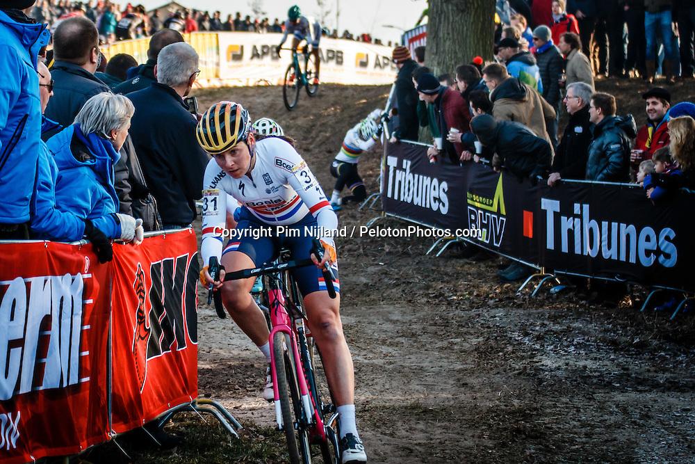 BRAMMEIER Nikki (GBR) during Women Elite race, UCI Cyclo-cross World Cup #8 at Hoogerheide, Noord-Brabant, The Netherlands, 22 January 2017. Photo by Pim Nijland / PelotonPhotos.com | All photos usage must carry mandatory copyright credit (Peloton Photos | Pim Nijland)