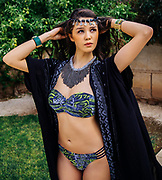 Marrakech Photoshoot on the grounds of Les Deux, March 20, 2015. (Photo by Bennett Raglin)<br /> <br /> Stylist Sanaa Kandoul<br /> Hair/Makeup Nawal Willems<br /> Model Mourna Hmarass