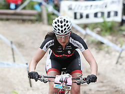 01.06.2014, Bullentaele, Albstadt, GER, UCI Mountain Bike World Cup, Cross Country Damen, im Bild Nadin Rieder Deutscland // during Womens Cross Country Race of UCI Mountainbike Worldcup at the Bullentaele in Albstadt, Germany on 2014/06/01. EXPA Pictures © 2014, PhotoCredit: EXPA/ Eibner-Pressefoto/ Langer<br /> <br /> *****ATTENTION - OUT of GER*****