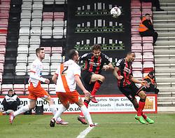 Bournemouth's Brett Pitman scores his second goal - Photo mandatory by-line: Robbie Stephenson/JMP - Mobile: 07966 386802 - 14/03/2015 - SPORT - Football - Bournemouth - Dean Court - AFC Bournemouth v Blackpool - Sky Bet Championship