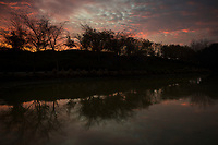 Sunset Reflection in Lagoon, Alameda, California