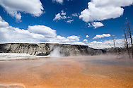 Mammoth Hot Springs - Main Terrace, Yellowstone National Park, Wyoming