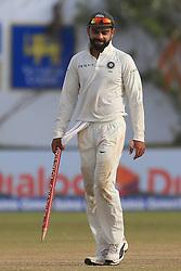 July 29, 2017 - Galle, Sri Lanka - Indian cricket captain Virat Kohli walks off with a stump in his hands after India defeated Sri Lanka by 304 runs during the 4th Day's play in the 1st Test match between Sri Lanka and India at the Galle cricket stadium, Galle, Sri Lanka on Saturday 29 July 2017. (Credit Image: © Tharaka Basnayaka/NurPhoto via ZUMA Press)