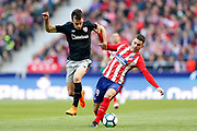 Atletico Madrid's French defender Lucas Hernandez vies for the ball during the Spanish championship Liga football match between Atletico Madrid and Athletic Bilbao on february 18, 2018 at the Metropolitano stadium in Madrid, Spain - Photo Benjamin Cremel / ProSportsImages / DPPI
