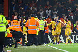Goal, Christian Benteke of Crystal Palace scores as fans invade the pitch, police and staff rush to control the situation - Mandatory by-line: Jason Brown/JMP - 31/01/2017 - FOOTBALL - Vitality Stadium - Bournemouth, England - Bournemouth v Crystal Palace - Premier League