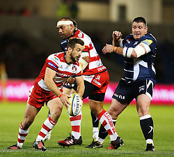 Greig Laidlaw (capt) of Gloucester Rugby in action - Mandatory by-line: Matt McNulty/JMP - 16/09/2016 - RUGBY - Heywood Road Stadium - Sale, England - Sale Sharks v Gloucester Rugby - Aviva Premiership