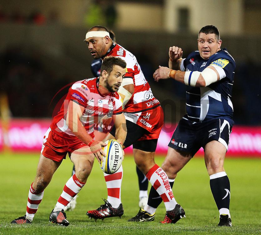 Greig Laidlaw (capt) of Gloucester Rugby in action - Mandatory by-line: Matt McNulty/JMP - 16/09/2016 - RUGBY - Heywood Road Stadium - Sale, England - Sale Sharks v Gloucester Rugby - Aviva Premiership