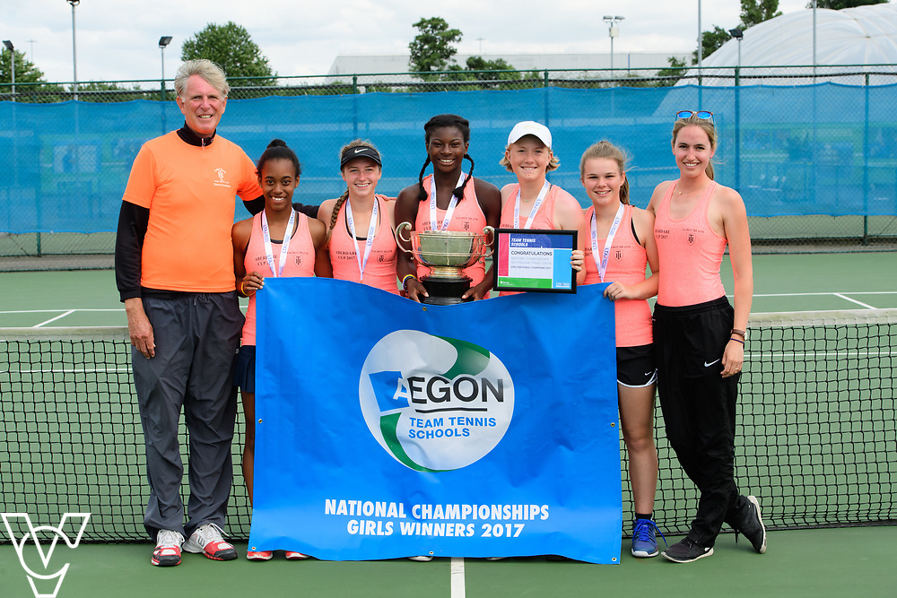 Aberdare Cup - Talbot Heath School A [2]<br /> <br /> Team Tennis Schools National Championships Finals 2017 held at Nottingham Tennis Centre.  <br /> <br /> Picture: Chris Vaughan Photography for the LTA<br /> Date: July 14, 2017