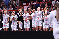 2019-04-27 | Stockholm, Sweden: Täby during the game between KAIS Mora IF and Täby FC IBK at Ericsson Globe Arena ( Photo by: Simon Holmgren | Swe Press Photo )<br /> <br /> Keywords: Ericsson Globe Arena, Stockholm, Floorball, SM-Final, KAIS Mora IF, Täby FC IBK