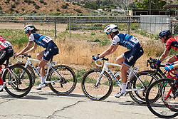 Tayler Wiles (USA) sits in Deignan's wheel at Amgen Tour of California Women's Race empowered with SRAM 2019 - Stage 3, a 126 km road race from Santa Clarita to Pasedena, United States on May 18, 2019. Photo by Sean Robinson/velofocus.com