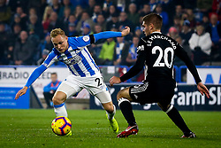 Alex Pritchard of Huddersfield Town takes on Maxime Le Marchand of Fulham - Mandatory by-line: Robbie Stephenson/JMP - 05/11/2018 - FOOTBALL - John Smith's Stadium - Huddersfield, England - Huddersfield Town v Fulham - Premier League