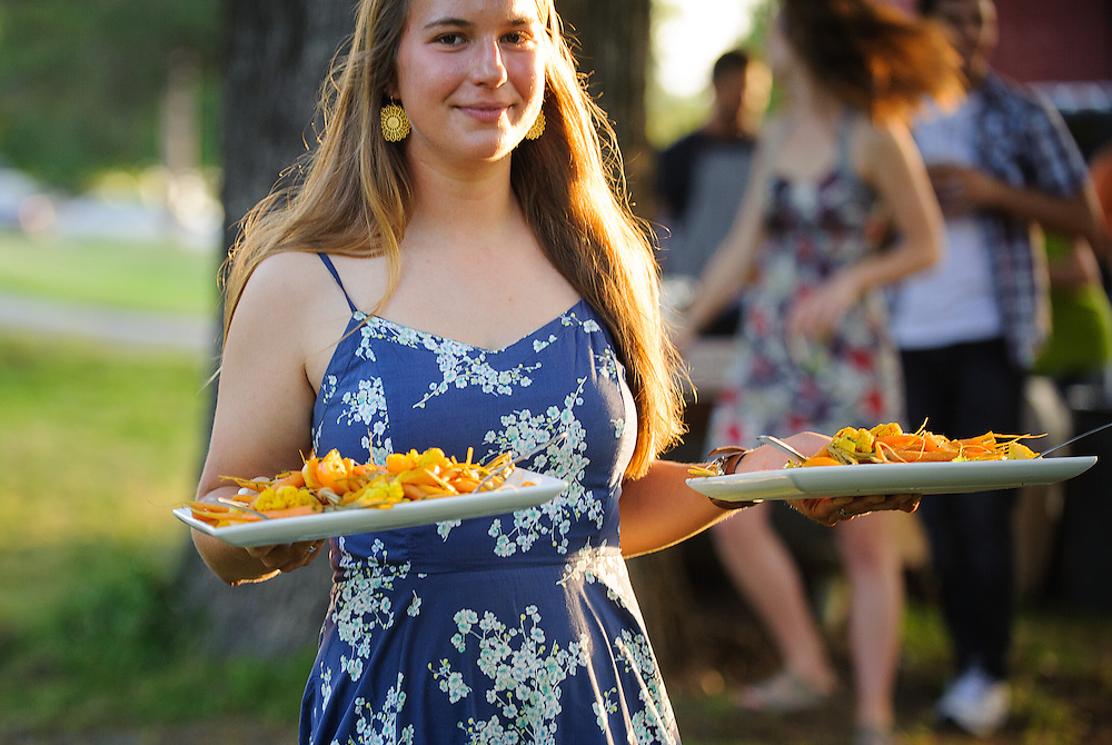 """A Farm to Table dinner was held on the grounds of St. Joseph's Farm in North Little Rock on May 22, 2014. The """"Bluejeans and Bluegrass"""" fundraiser featured chefs Scott McGehee and Travis McConnell. The family style dinner consisted of locally grown produce and meat."""