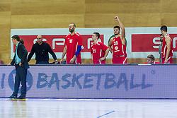 Players of KK Tajfun Sentjur during basketball match between KK Krka Novo mesto and KK Tajfun Sentjur at Superpokal 2015, on September 26, 2015 in SKofja Loka, Poden Sports hall, Slovenia. Photo by Grega Valancic / Sportida.com