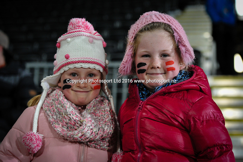 Fans during the Super Rugby Match, Crusaders V Rebels, AMI Stadium, Christchurch, New Zealand. 9th July 2016. Copyright Photo: John Davidson / www.photosport.nz