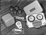 01/05/1958<br /> 05/01/1958<br /> 01 May 1958 <br /> Electrical equipment for Castle Publications. Small tape recorder at Harry Moore's, Dawson Street, Dublin.