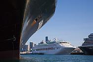 ship hull docked in port