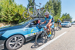 05.07.2017, Altheim, AUT, Ö-Tour, Österreich Radrundfahrt 2017, 3. Etappe von Wieselburg nach Altheim (226,2km), im Bild Markus Eibegger (AUT, Team Felbermayr Simplon Wels) // Markus Eibegger of Austria (Team Felbermayr Simplon Wels) during the 3rd stage from Wieselburg to Altheim (199,6km) of 2017 Tour of Austria. Altheim, Austria on 2017/07/05. EXPA Pictures © 2017, PhotoCredit: EXPA/ JFK