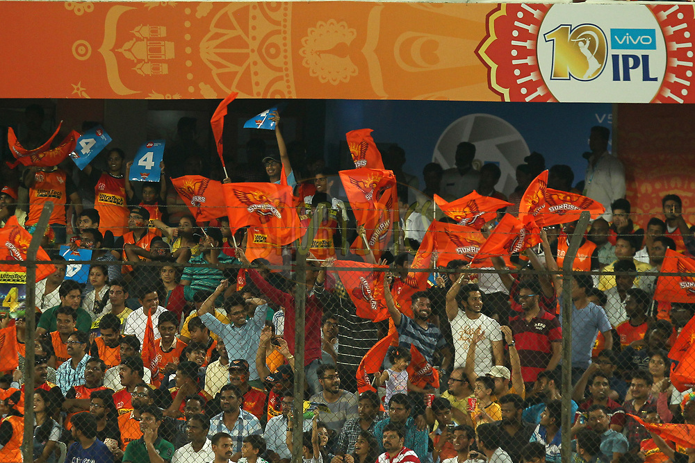 Crowd during match 6 of the Vivo 2017 Indian Premier League between the Sunrisers Hyderabad and the Gujarat Lions held at the Rajiv Gandhi International Cricket Stadium in Hyderabad, India on the 9th April 2017Photo by Prashant Bhoot - IPL - Sportzpics