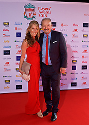 LIVERPOOL, ENGLAND - Thursday, May 10, 2018: Liverpool's chief executive officer Peter Moore and his wife Dianne arrive on the red carpet for the Liverpool FC Players' Awards 2018 at Anfield. (Pic by David Rawcliffe/Propaganda)