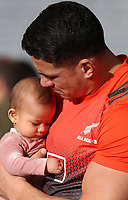 Rugby Union - 2017 British & Irish Lions Tour of New Zealand - Captain's Run - Pre 3rd Test<br /> <br /> Sonny Bill Williams of the All Blacks holds his daughter Aisha at Eden Park, Auckland.<br /> <br /> COLORSPORT/LYNNE CAMERON