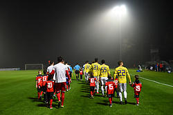 Players before football match between NK Aluminij and NK Maribor in 18th Round of Prva liga Telekom Slovenije 2019/20, on November 24, 2019 in Sportni park Aluminij, Kidricevo Slovenia. Photo by Milos Vujinovic / Sportida
