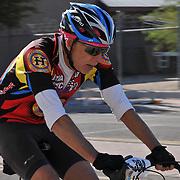 El Tour de Tucson 2016 finisher on 6th Avenue. Bike-tography by Martha Retallick.