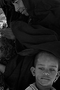 tuareg mother with children