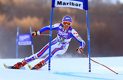 Ingrid Jacquemod of France placed after first run Tina Maze of Slovenia skiing in first run of Maribor women giant slalom race of Audi FIS Ski World Cup 2008-09, in Maribor, Slovenia, on January 10, 2009. (Photo by Vid Ponikvar / Sportida)