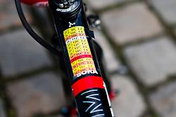 Bora-Argon 18 bike near the startpodium,114th Paris - Roubaix (UCI Worldtour), Compiègne, France, 10 April 2016, Photo by Pim Nijland / PelotonPhotos.com