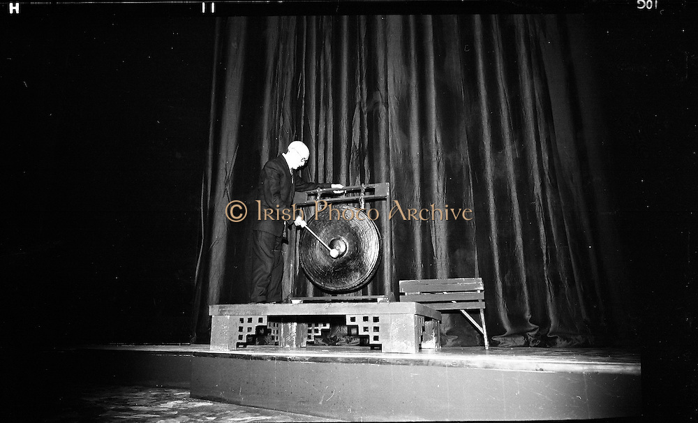 Opening of the new Abbey Theatre, designed by Michael Scott. Sean Barlow, the oldest member of the Abbey..18.07.1966