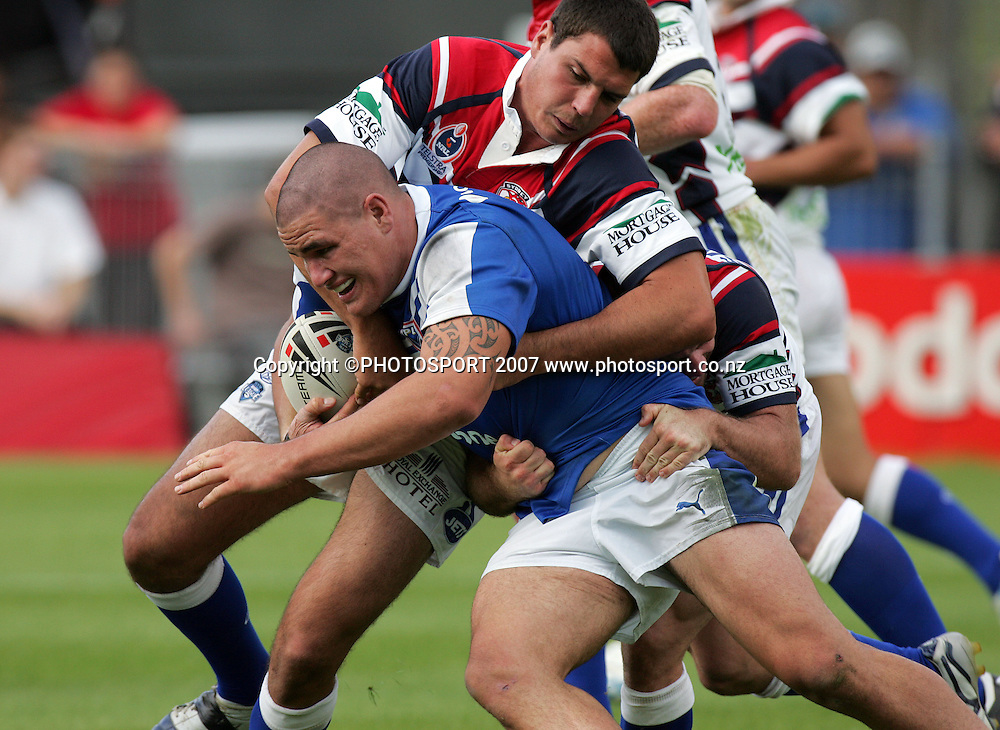 Russell Packer in action during the Premier League match between the Auckland Lions and the Newtown Jets at Mt Smart Stadium, Auckland, New Zealand on Sunday 25 March 2007. Photo: Hannah Johnston/PHOTOSPORT<br /><br /><br /><br />250307