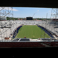 Thomas Wells | Buy at PHOTOS.DJOURNAL.COM<br /> The view of the North endzone from the club level south endzone at Vaught-Hemmingway Stadium in Oxford.