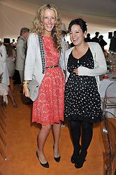Left to right, KATE FREUD and LILY ALLEN both pregnant and expecting on the same day at the 2011 Veuve Clicquot Gold Cup Final at Cowdray Park, Midhurst, West Sussex on 17th July 2011.