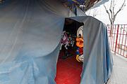 Donald Duck on Merry-go-round, Bari, Puglia, Italy.