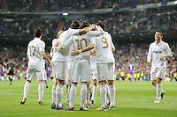 FUSSBALL   CHAMPIONS LEAGUE   SAISON 2011/2012  Achtelfinale Rueckspiel 14.03.2012 Real Madrid  - ZSKA Moskau  TEAMJUBEL Real Madrid