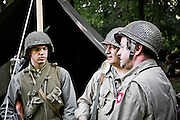WWII Camp in Normandy. From May to December collectors from France and abroad meet next to the former battlefields of the 39/45 war - Photo: Alan Aubry