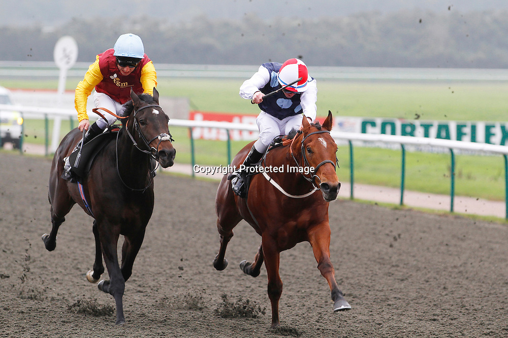 Le King Beau and William Carson winning the 12.20 race