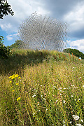 The Hive, contemporary modern metal sculpture by Wolfgang Buttress Simmons Studio and BDP. An exhibit for the secret life of bees at Royal Botanic Gardens at Kew, England, UK
