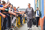 Marcelo Bielsa of Leeds United (Manager) arrives at the ground during the EFL Sky Bet Championship match between Leeds United and Brentford at Elland Road, Leeds, England on 21 August 2019.