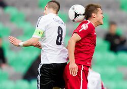 Leon Goretzka of Germany vs Sebastian Rudol of Poland during the UEFA European Under-17 Championship Semifinal match between Germany and Poland on May 13, 2012 in SRC Stozice, Ljubljana, Slovenia. (Photo by Vid Ponikvar / Sportida.com)