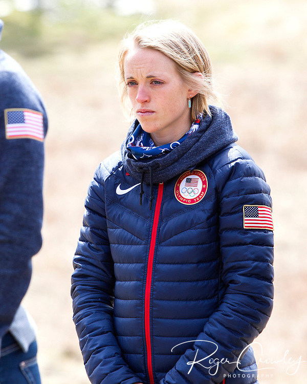 EAST MONTPELIER - USA Vermont Olympians speak at Morse Farm about the influence of climate change on winter sports they have experienced world wide and make suggestions on attacking the problem. Liz Stephens.